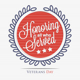 Fototapety Honoring all who served lettering