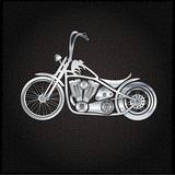 Fototapety vintage silver motorcycle on metal background