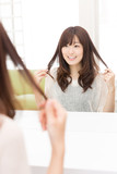 young asian woman haircare image poster