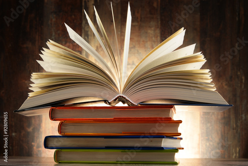 Poster, Tablou Composition with hardcover books