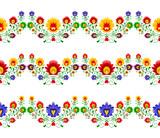 Polski folklor - trzy kolorowe wzory