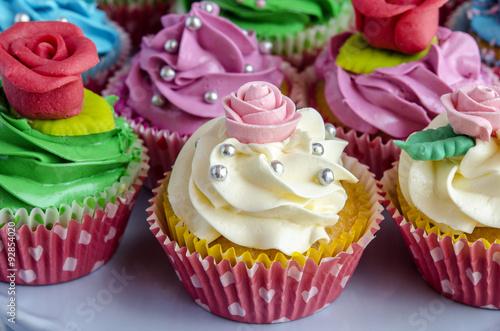 Fototapeta Cupcakes decorated