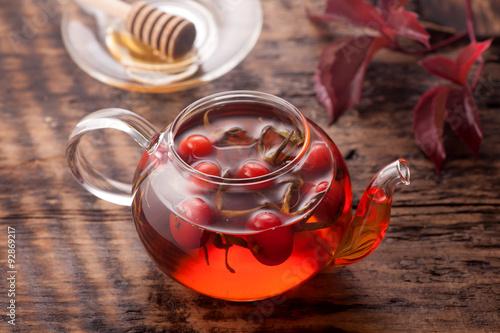 Tea rosehip. Vitamin drink.