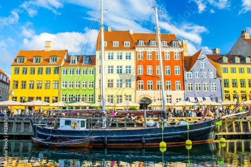 Póster Nyhavn en Copenhague, Dinamarca