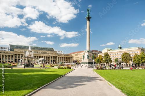 Foto op Canvas Europa Schlossplatz Stuttgart mit Königsbau