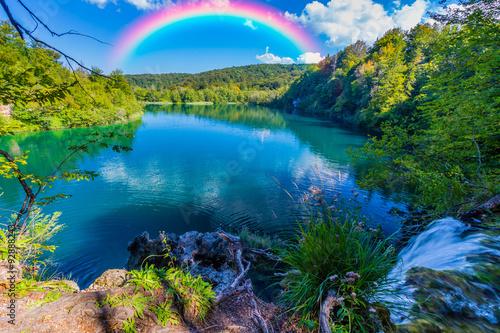 Rainbow in the sky - 92888243