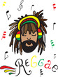 Постер, плакат: reggae rastaman in headphones