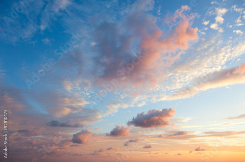 Gentle Sky Background at Sunset time, natural colors, may use