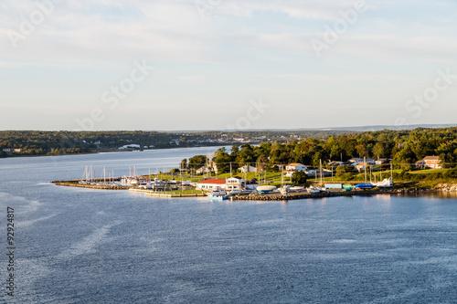 Papiers peints Sydney Marina and Homes on Shore of Sydney Nova Scotia