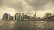 Quadro Retro toned stormy sky over Manhattan, NYC, USA.