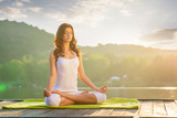 Fototapety Woman Yoga - relax in nature