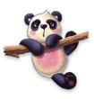 Постер, плакат: furry panda