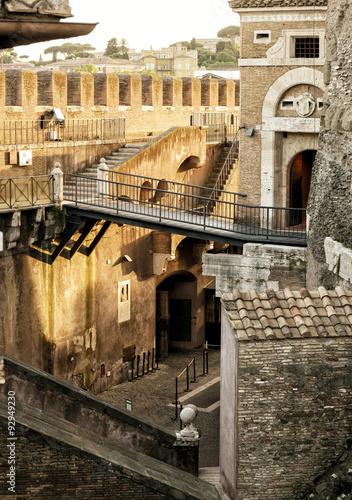 Fototapeta Inside the Castel Sant`Angelo in Rome