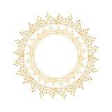 Fototapety Round golden sparkle frame. Hand drawn vector background.