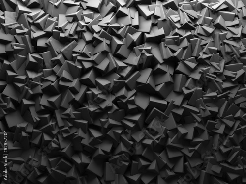 Fototapety, obrazy : Abstract Dark Chaotic Cube Shapes Background.
