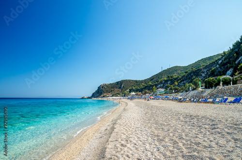Foto op Plexiglas Cyprus Kathisma Beach, Lefkada Island, Greece. Kathisma Beach is one of the best beaches in Lefkada Island in Ionian Sea
