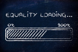 equality loading, progess bar illustration