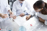 Women are studying in the laboratory of the University