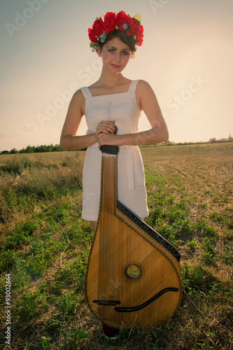 girl playing Poster