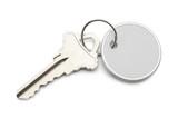 klíč s kruhovým štítkem