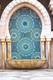 fountain in morocco africa old antique construction    palace