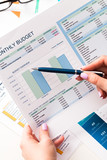 financial report and graphics for business