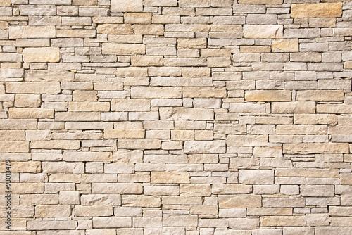 Fotobehang Baksteen muur warmes helles Mauerwerk, Hintergrund