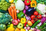 Fototapety Vegetables and fruits background.