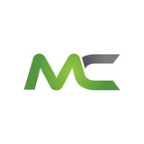 MC company linked letter logo green - 93015859