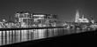 Rheinauhafen am abend in Köln