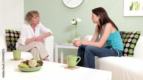 Candid conversation between teen