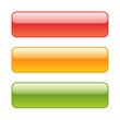 Set of red, green and yellow web background buttons