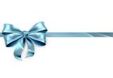 Fototapety Blue Bow Gift Background