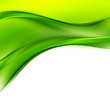 Abstract Green Wave Design
