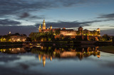 Wawel Castle and Wawel cathedral seen from the Vistula boulevards in the morning - 93062270
