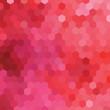 Obrazy na płótnie, fototapety, zdjęcia, fotoobrazy drukowane : Red hexagonal honeycomb abstract background