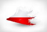 Fototapety Brush painted flag of Poland
