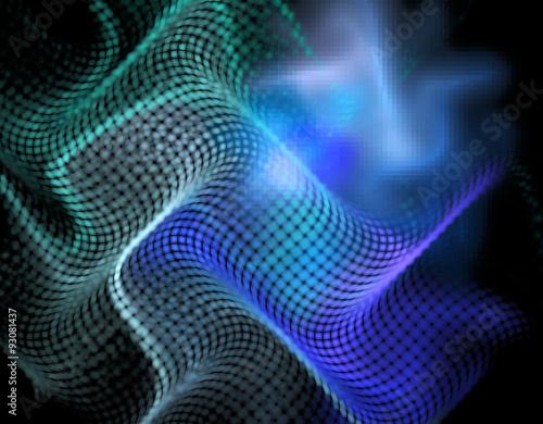 Foto op Canvas UFO 3d abstract fractal illustration for creative design
