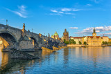 Prague city skyline and Charles Bridge - Prague - Czech Republic