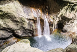 Waterfall in Skocjan Caves Park, Natural Heritage Site in Sloven