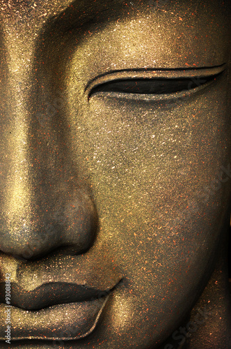 Spoed canvasdoek 2cm dik Boeddha The face of Buddha