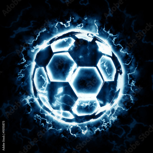 Lighting soccer ball
