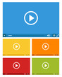 Detaily fotografie set of web video players