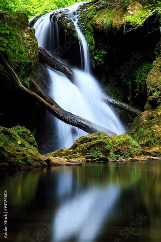 Plakat Cascada La Vaioaga in Cheile Nerei national park