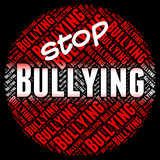Stop Bullying Means Push Around And Caution poster