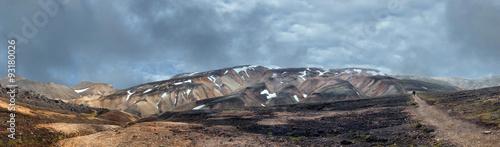 Papiers peints Cappuccino Iceland landmannalaugar region landscape