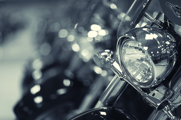fragment of a motorcycle © kichigin19