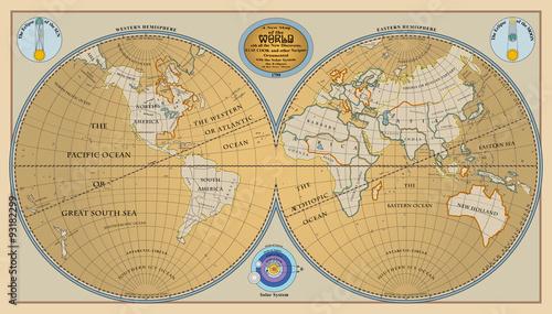wektor-starej-kuli-ziemskiej-mapa-swiata-z-nowymi-odkryciami