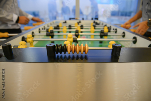 Poster Table football - focus to score mark