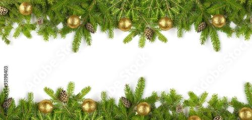 Naklejka Tannenzweige - Weihnachten - Banner